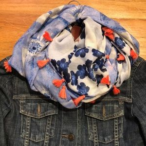 Accessories - Reversible Infinity Scarf with Tassels